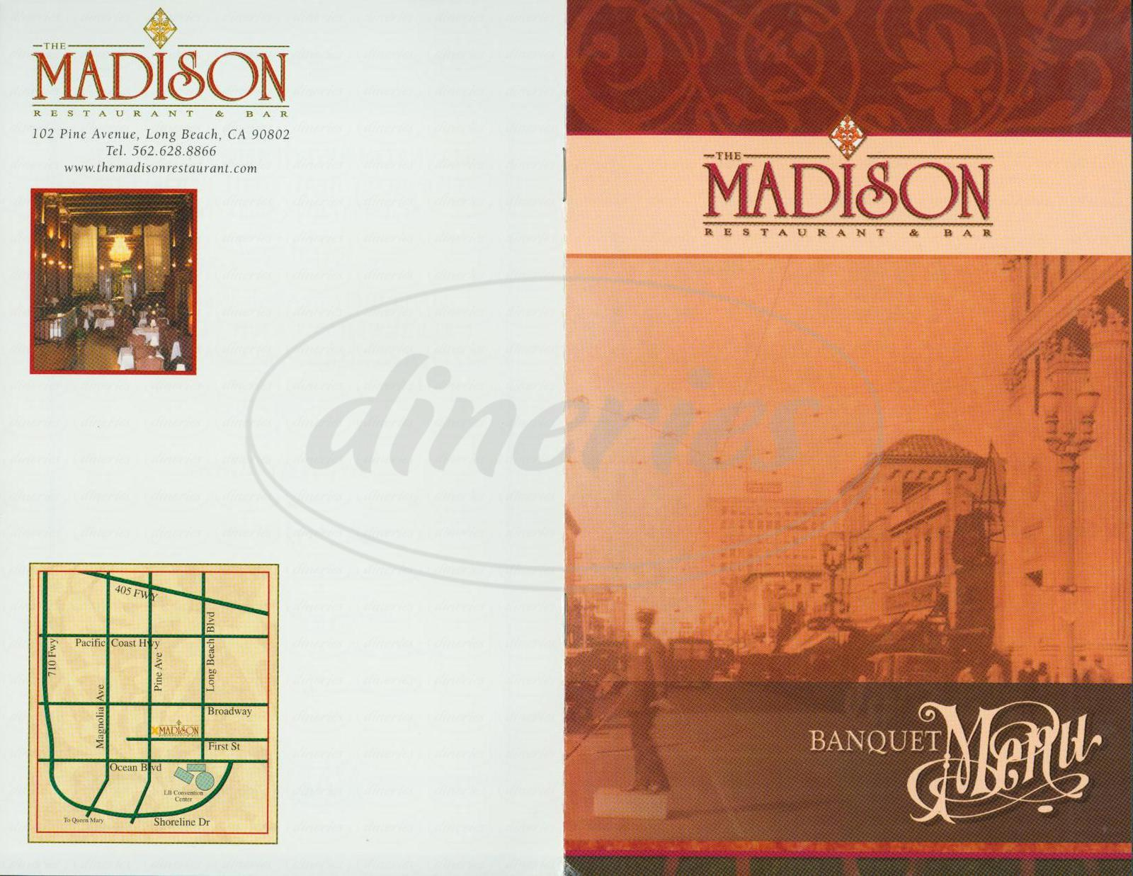menu for The Madison Restaurant