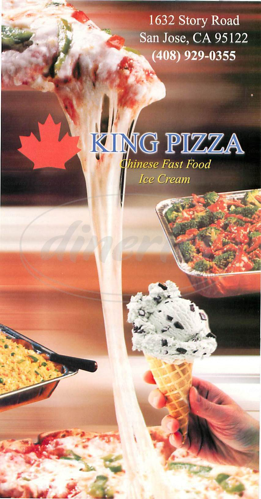 menu for King Pizza