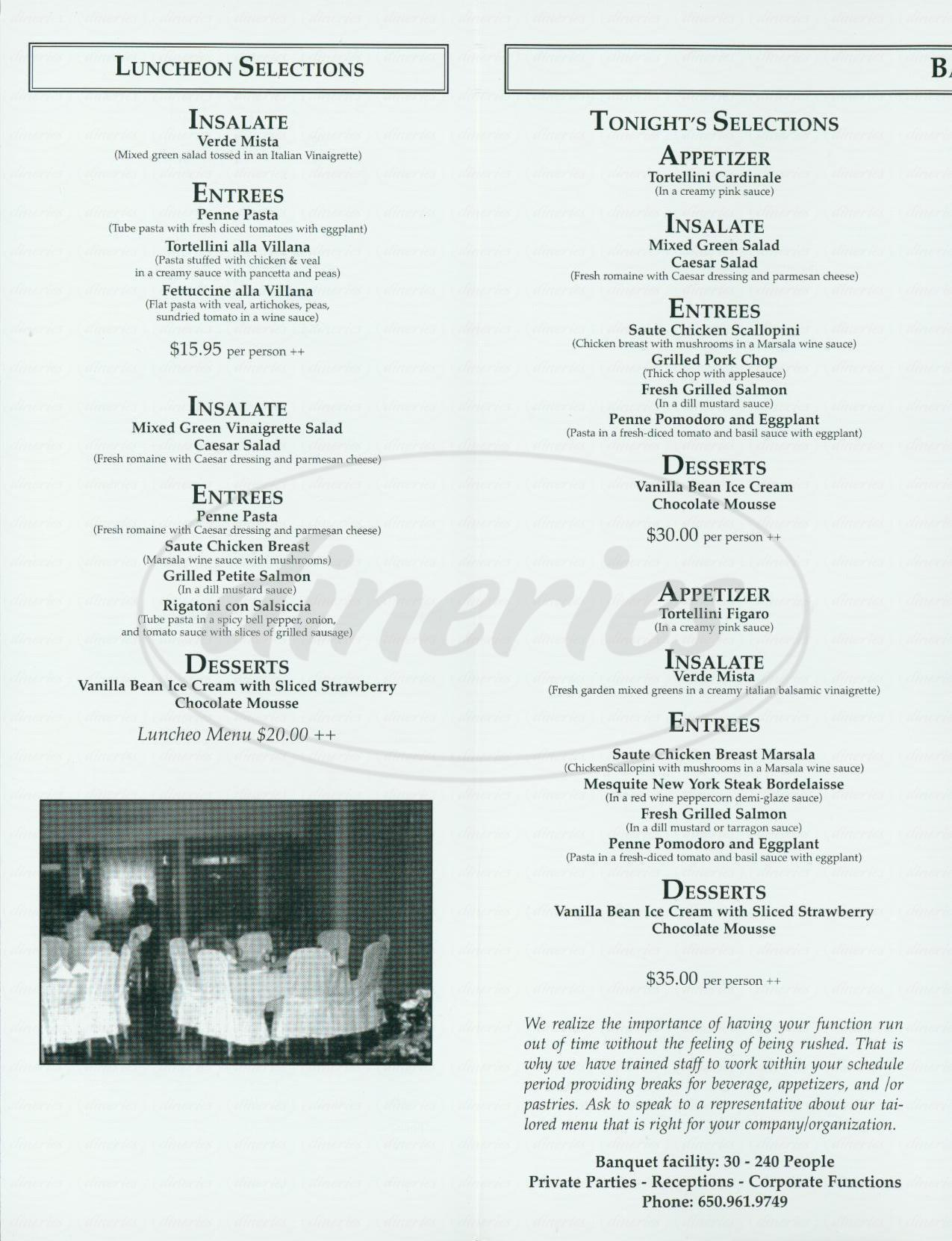 menu for Ristorante Don Giovanni