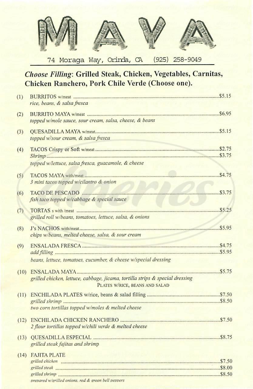 menu for Maya