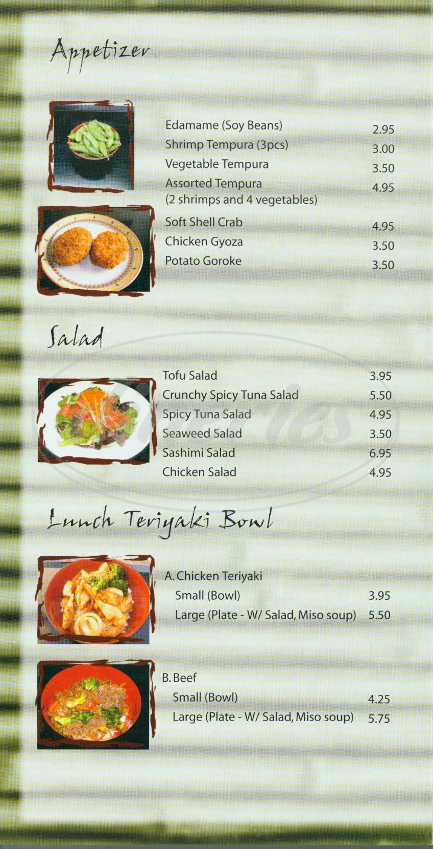 menu for For Tuna