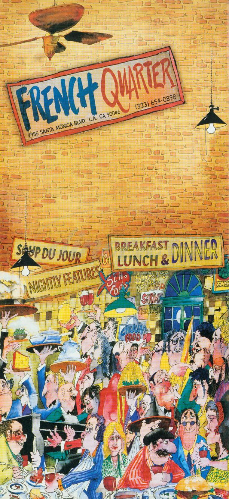 menu for French Quarter