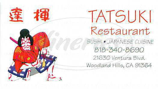 menu for Tatsuki