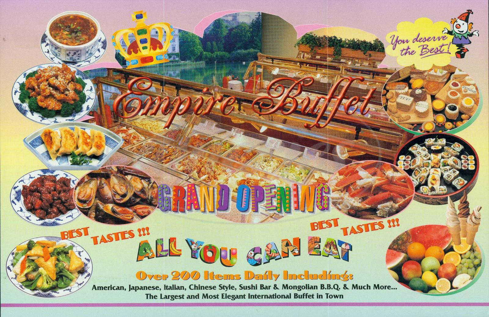 menu for Empire Buffet