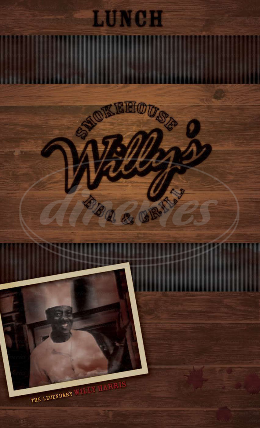 menu for Willy's Smokehouse