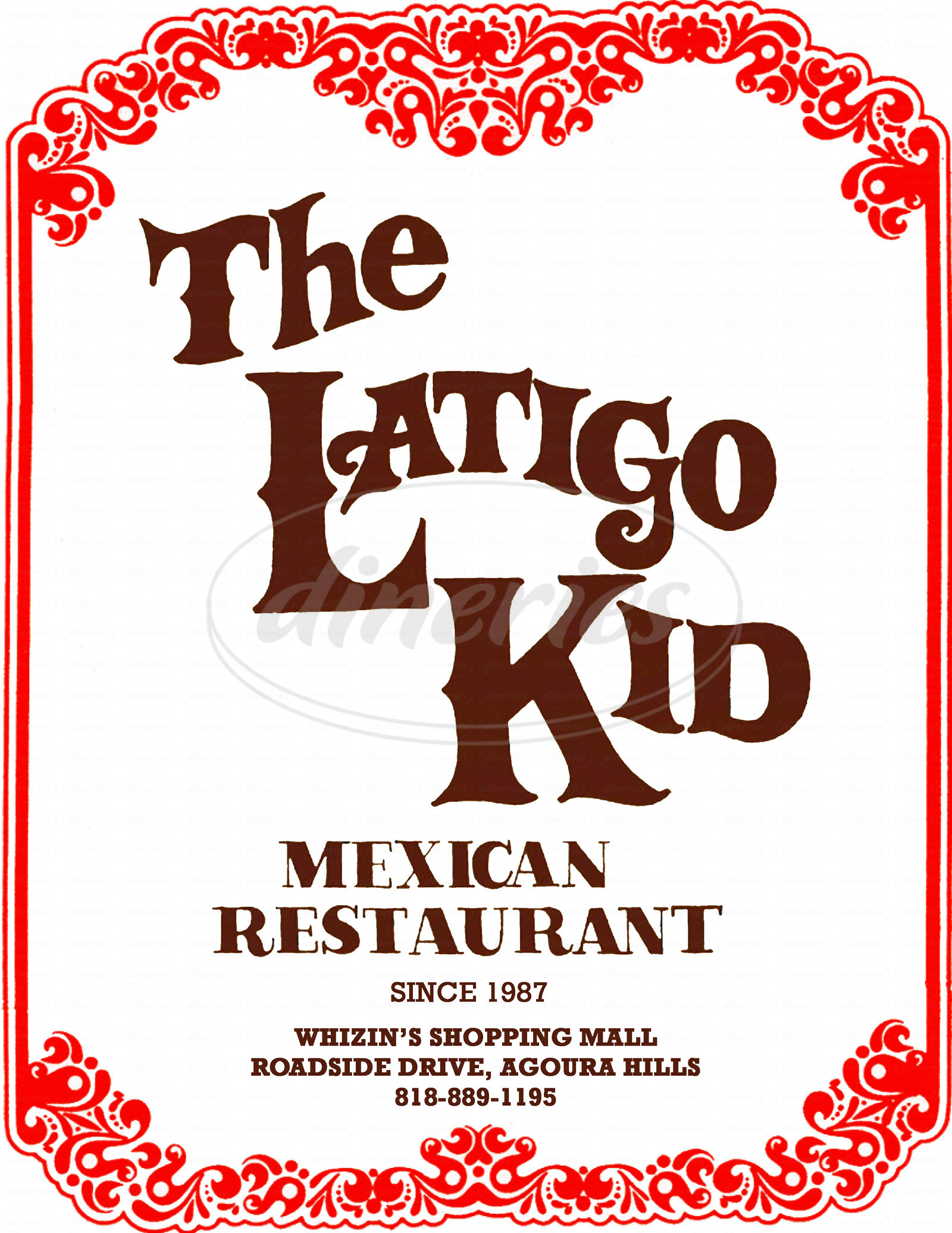 menu for The Latigo Kid