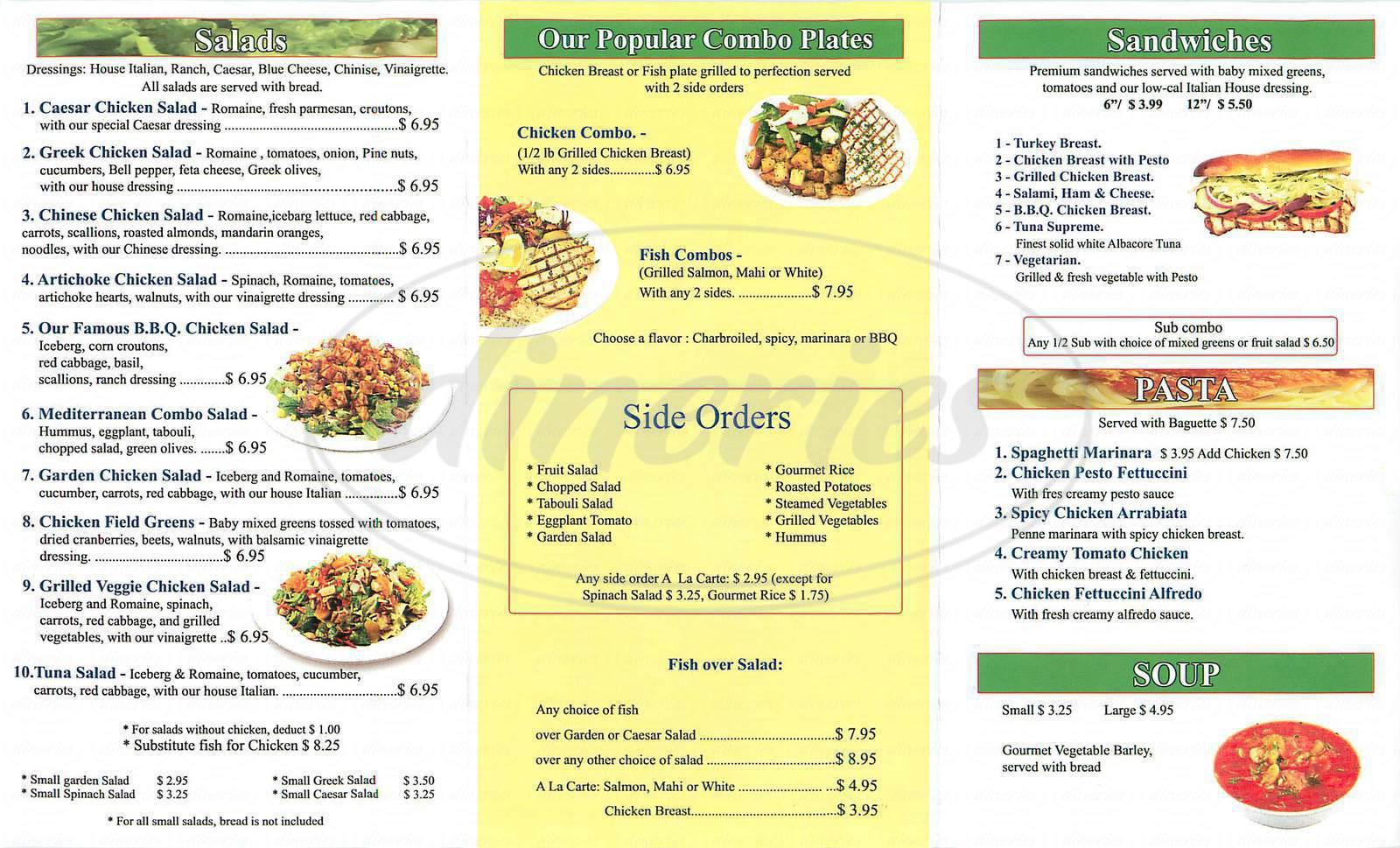 menu for California Fresh