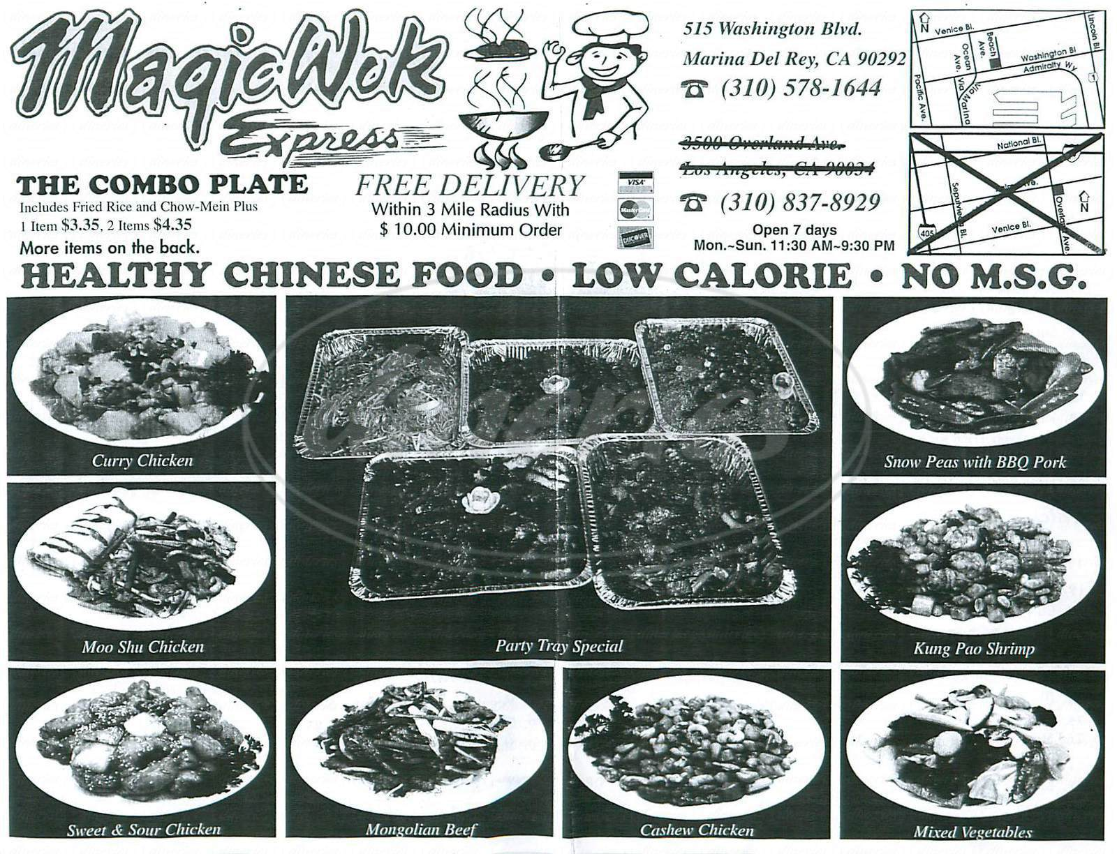 menu for Magic Wok Express