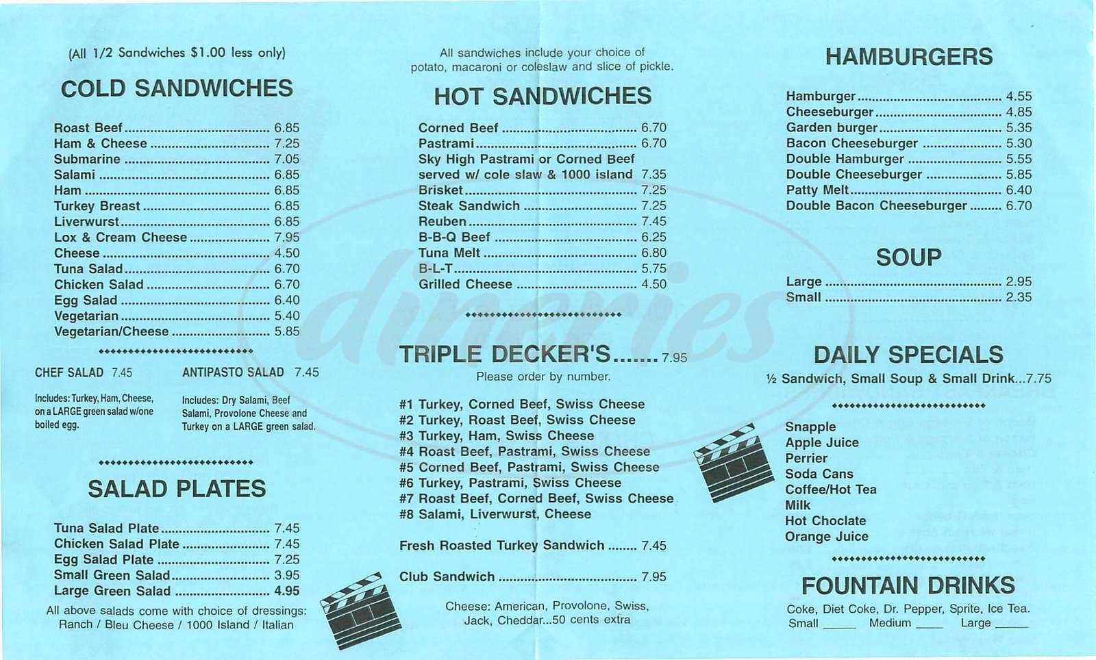 menu for Take Ten Deli
