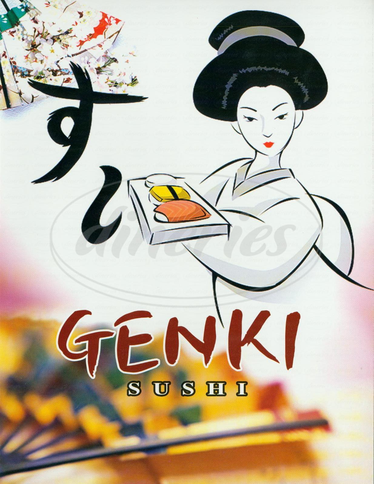 menu for Genki Sushi