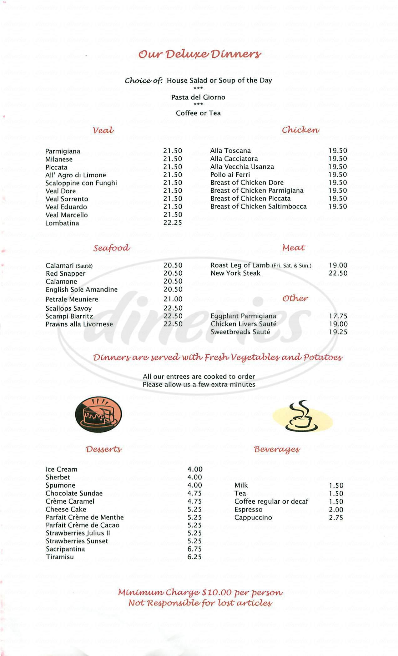 menu for Ristorante Marcello