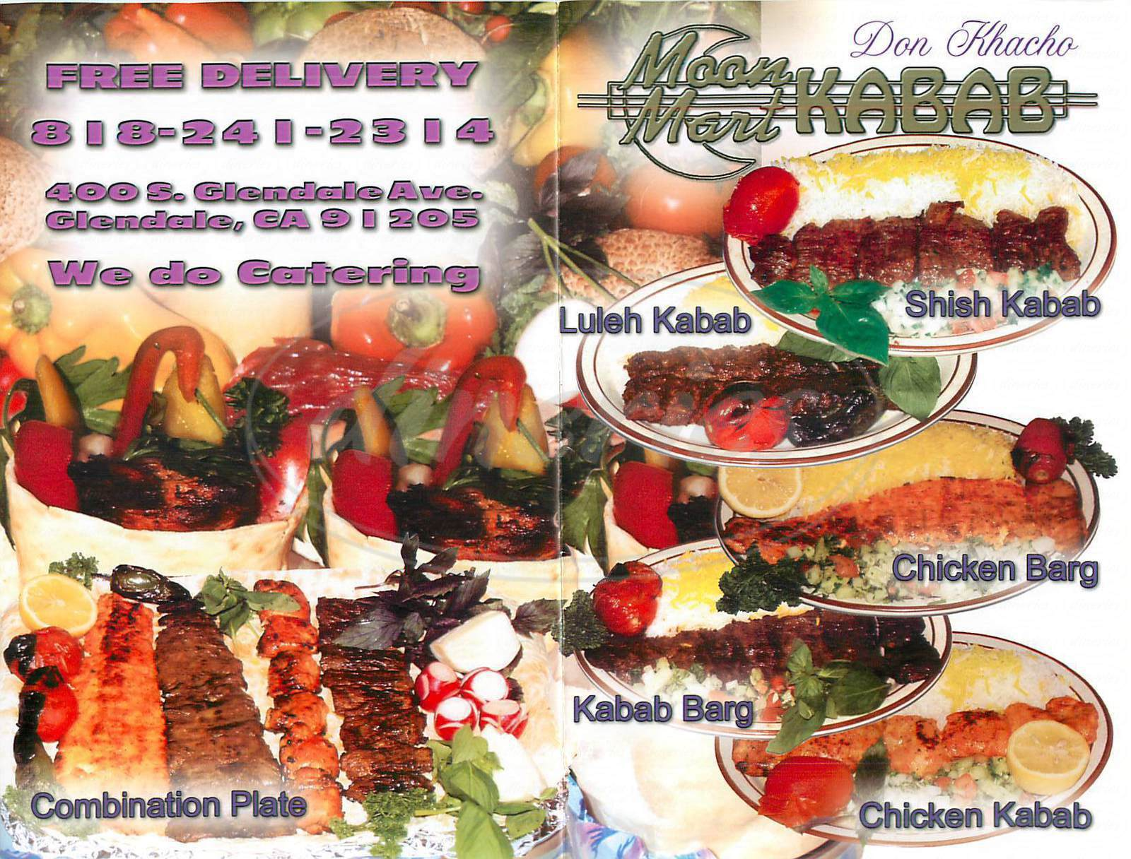 menu for Moon Mart Kabab
