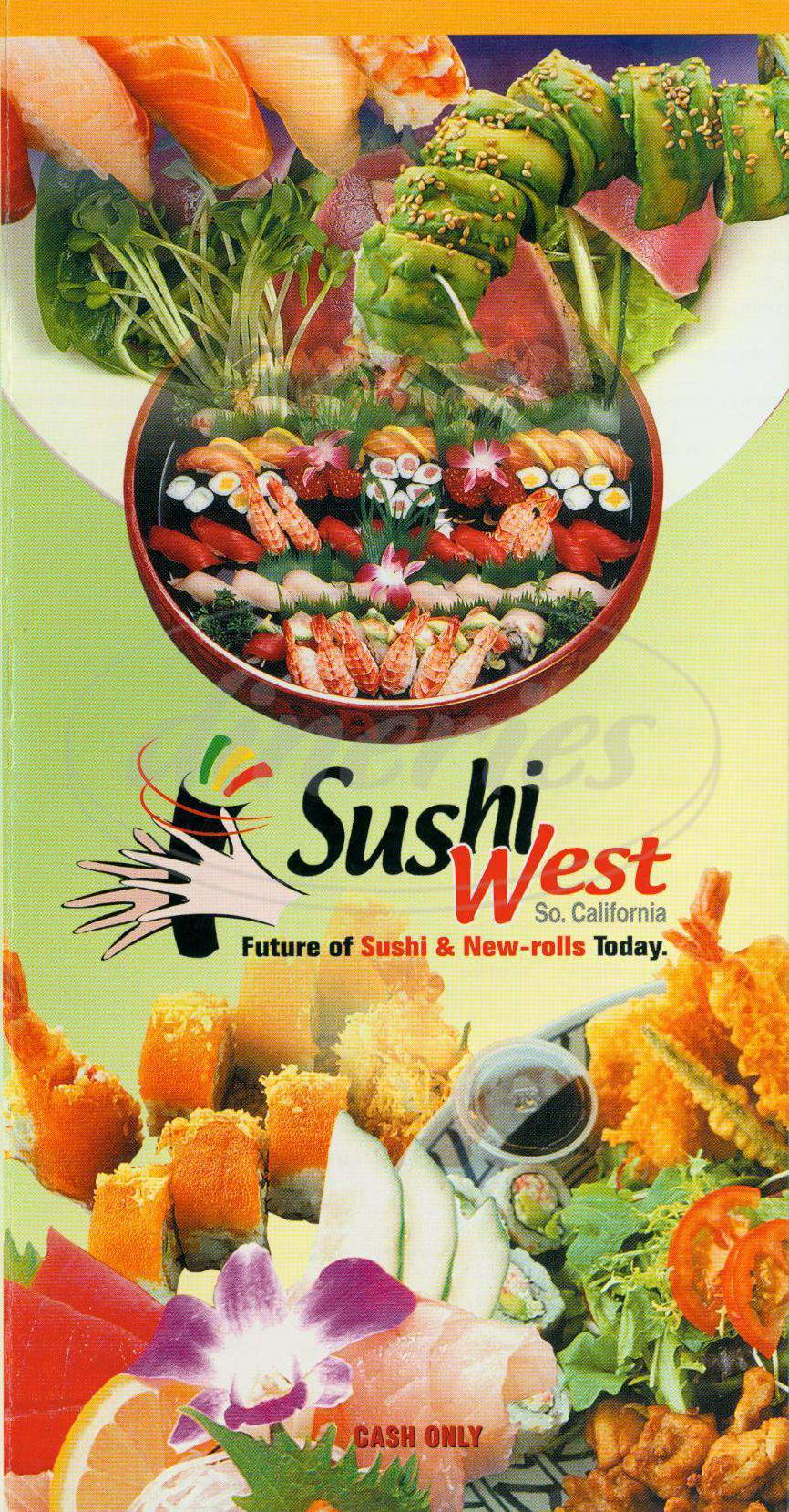 menu for Sushi West