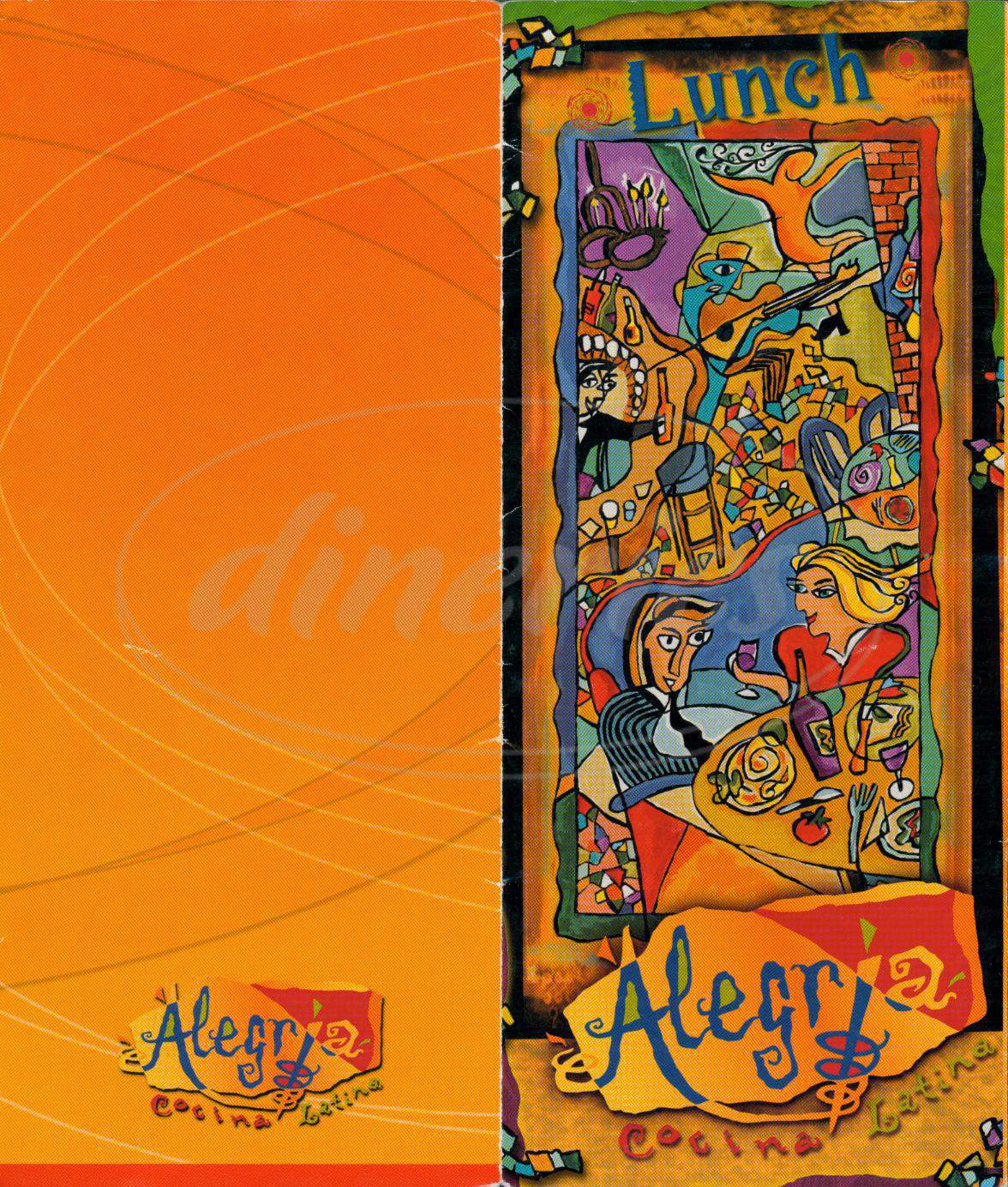 menu for Alegria Cocina Latina