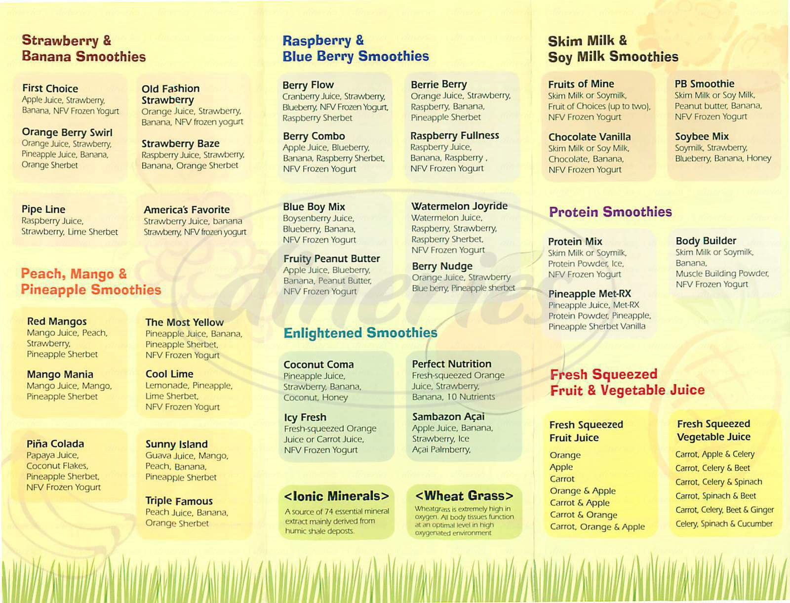 menu for Apfel Juice & Smoothie