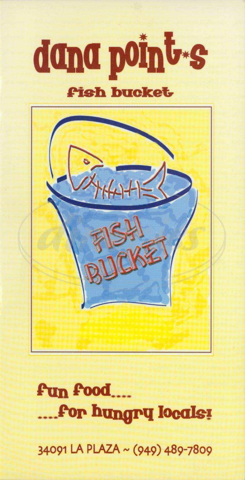 menu for The Fish Bucket