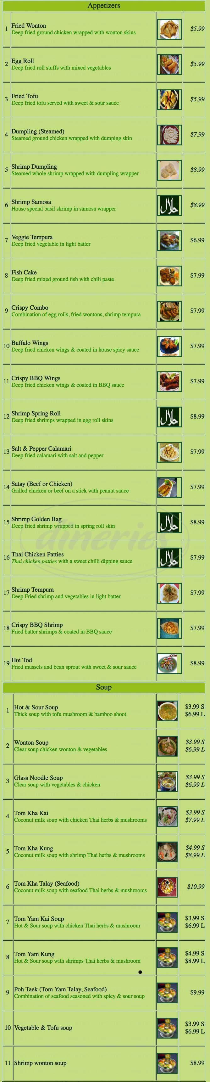 menu for Barn Rau