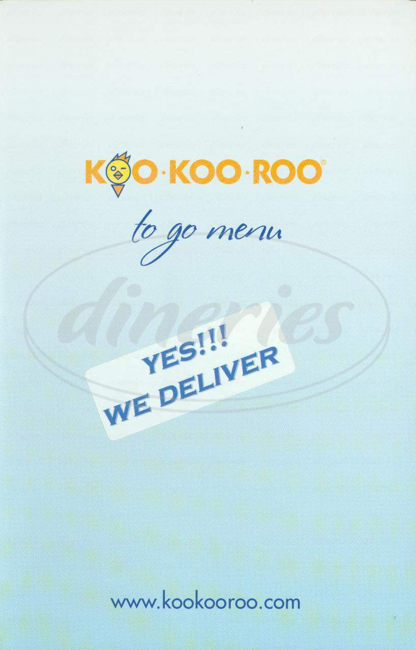 menu for Koo Koo Roo