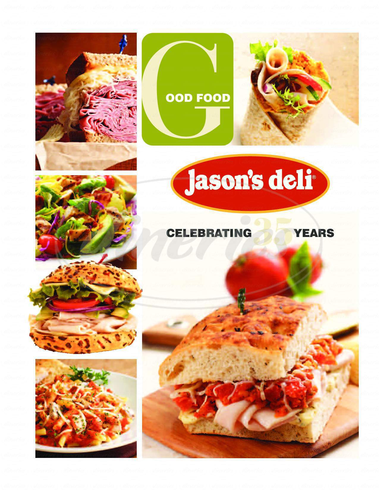 menu for Jason's Deli
