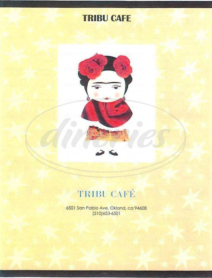 menu for Tribu Cafe
