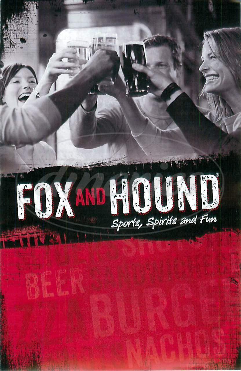 menu for Fox and Hound