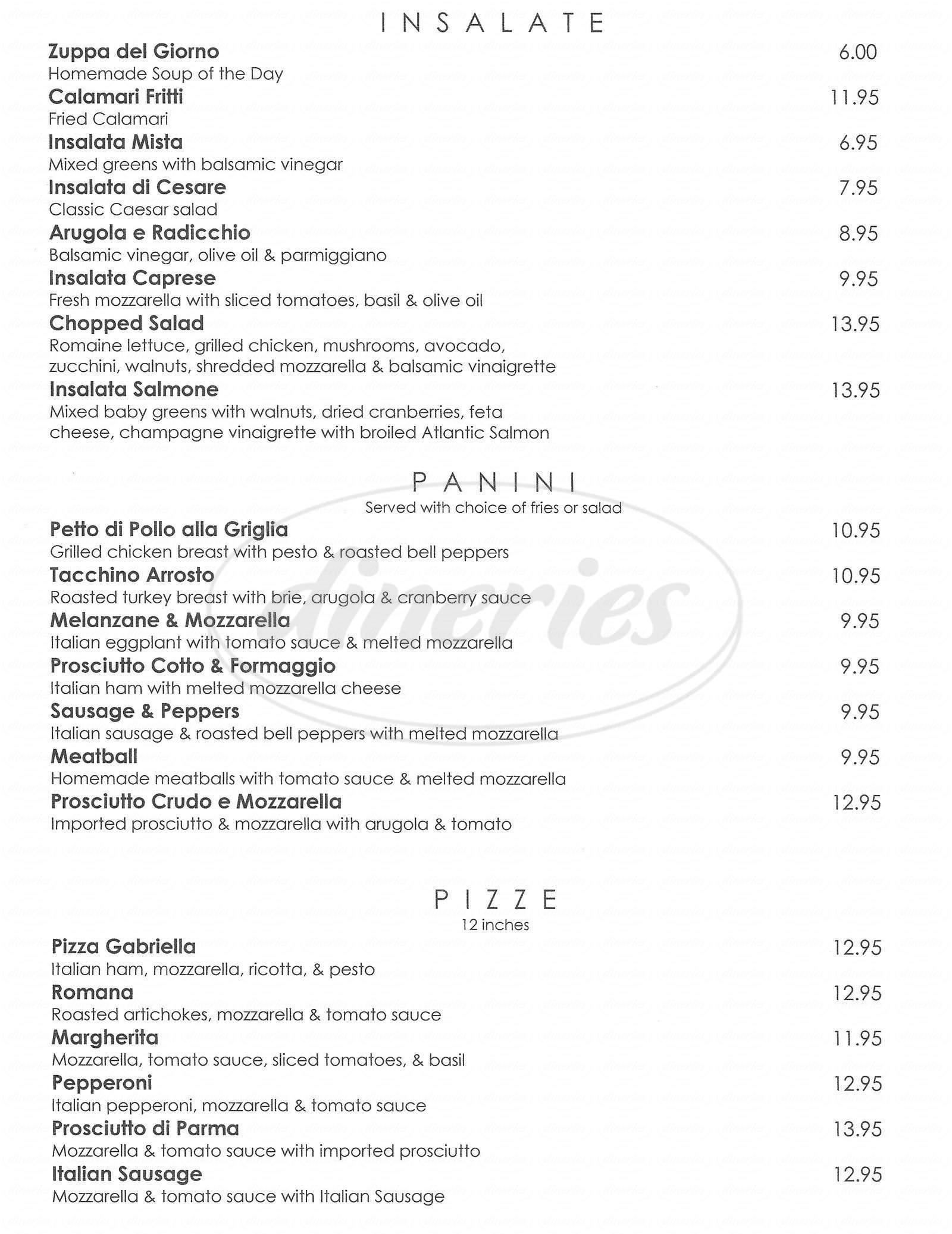 menu for Café Sole