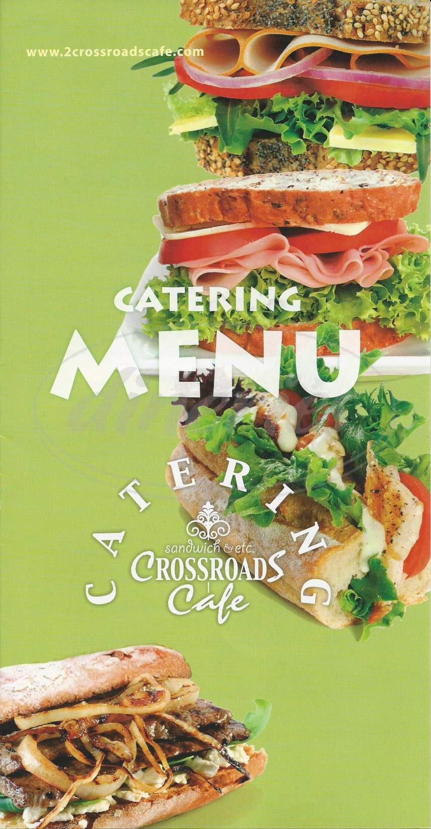 menu for Crossroads Cafe & Catering