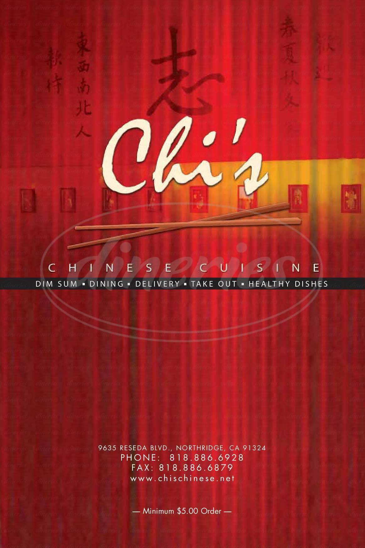 menu for Chis Chinese Cuisine