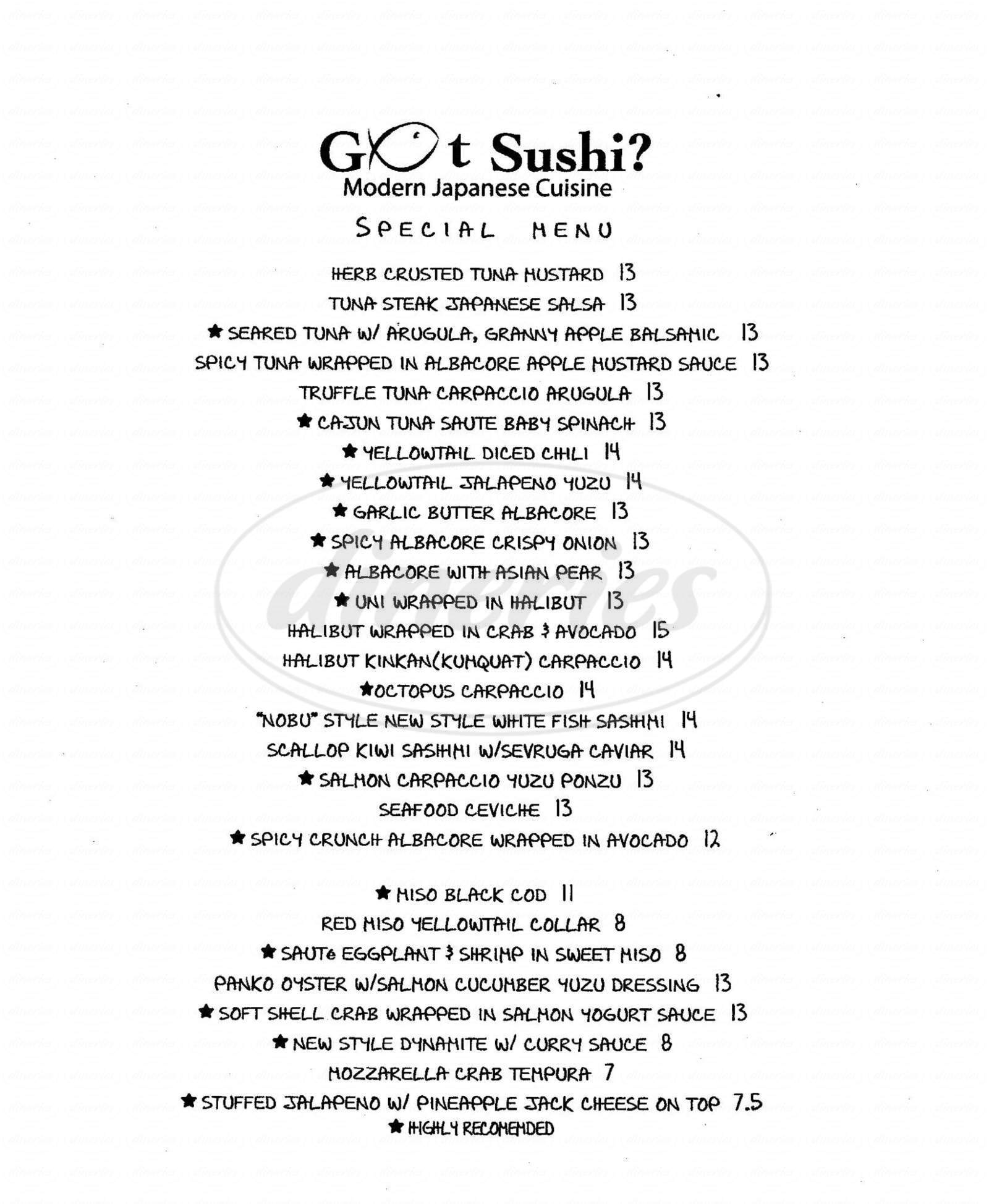 menu for King's Burgers - Got Sushi?