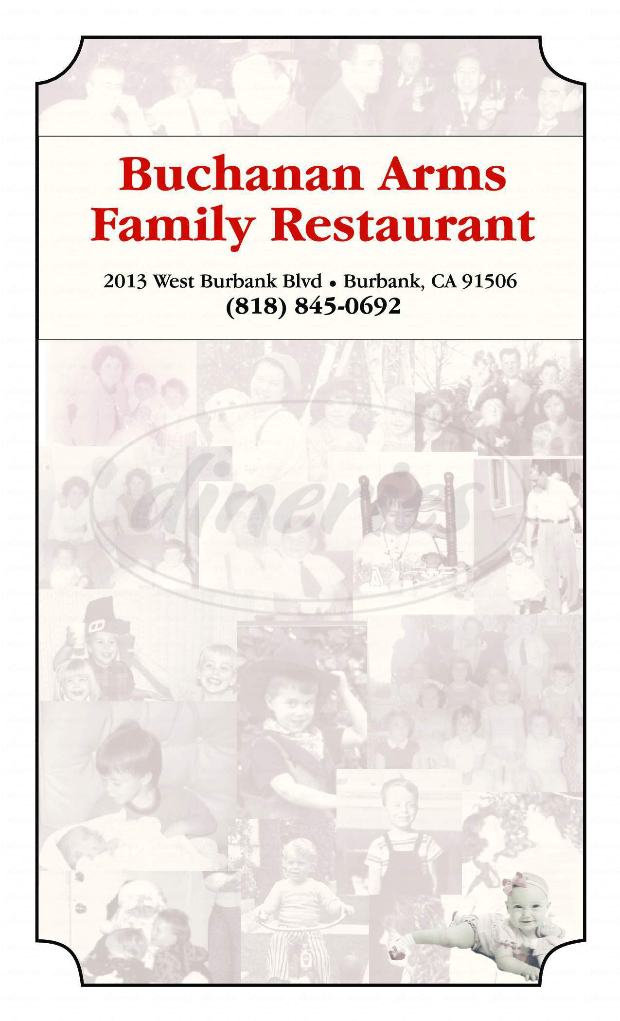menu for The Buchanan Arms