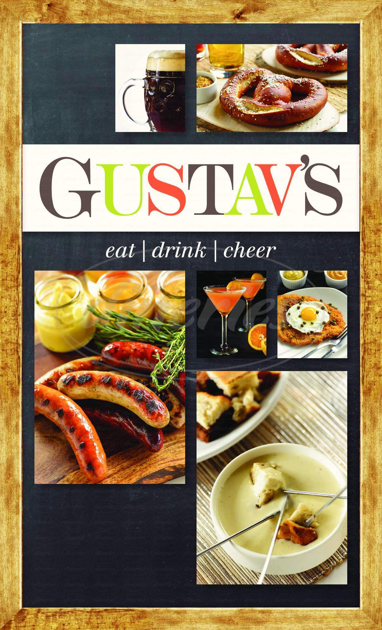 menu for Gustav's Pub & Grill
