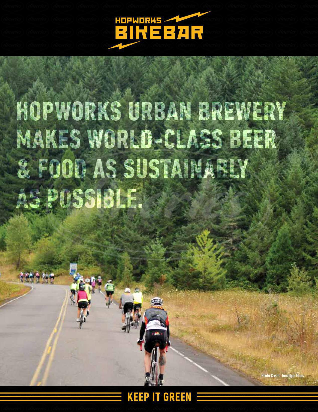 menu for Hopworks BikeBar