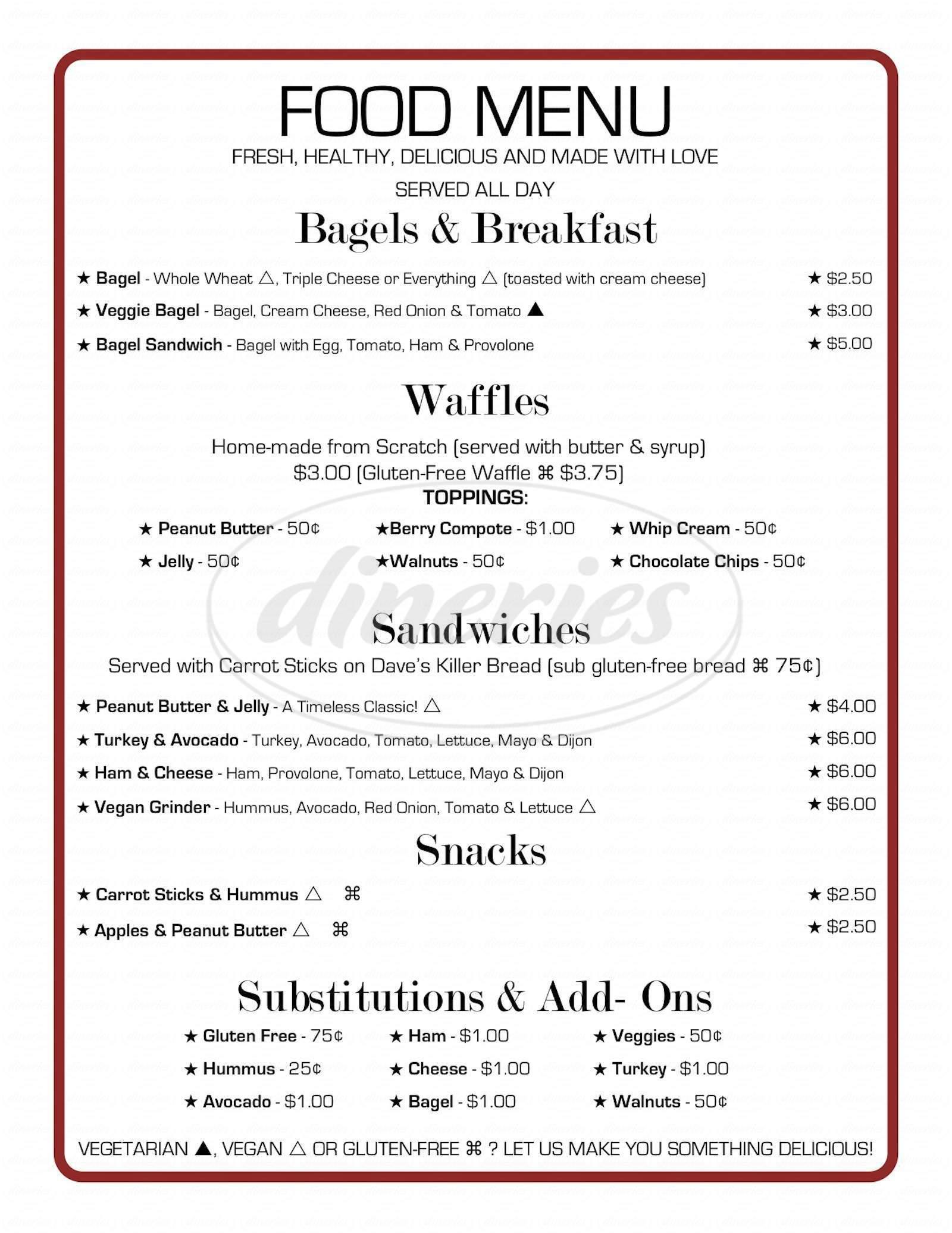 menu for Southeast Grind