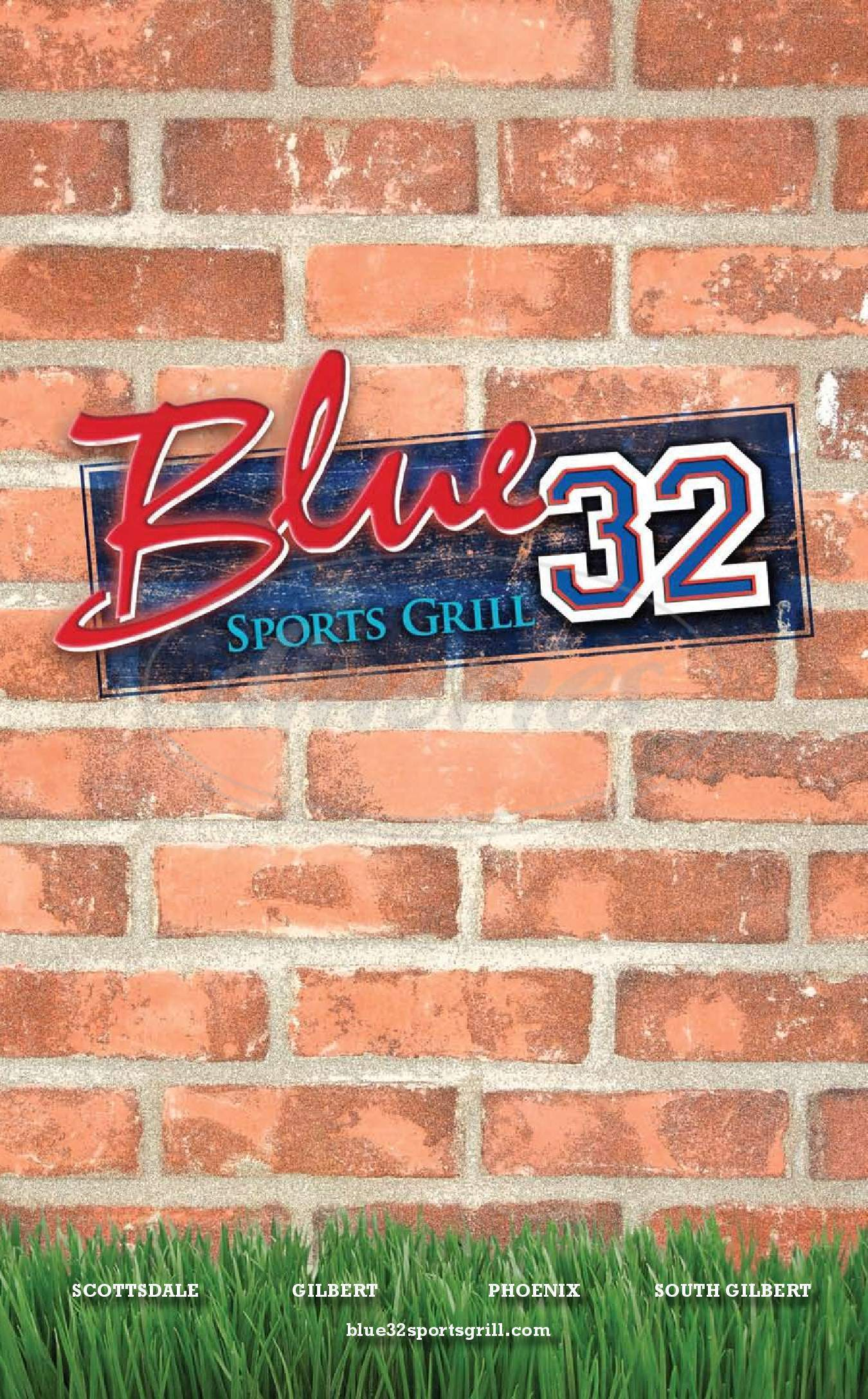 menu for Blue 32 Sports Grill