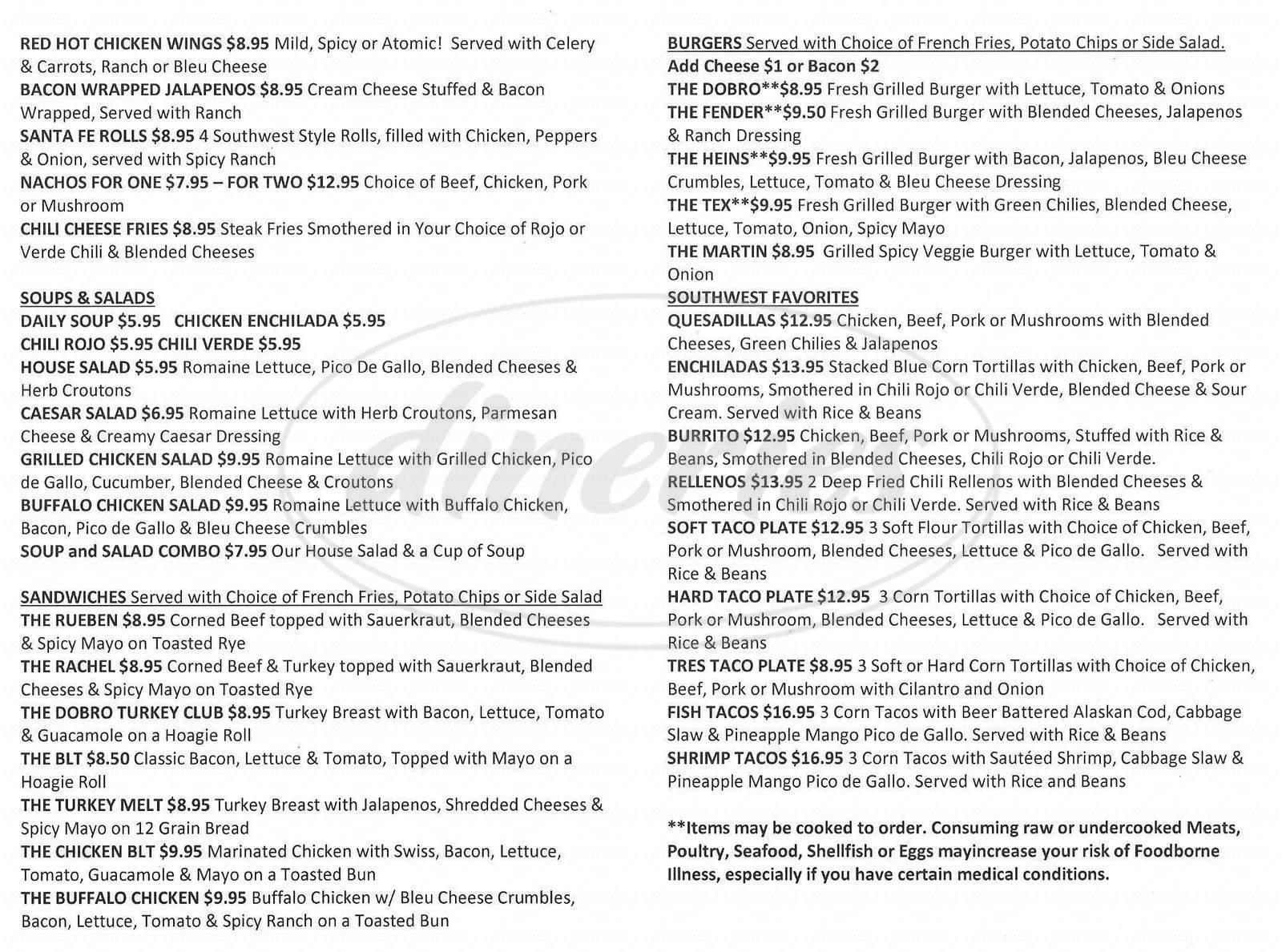 menu for My Dobro