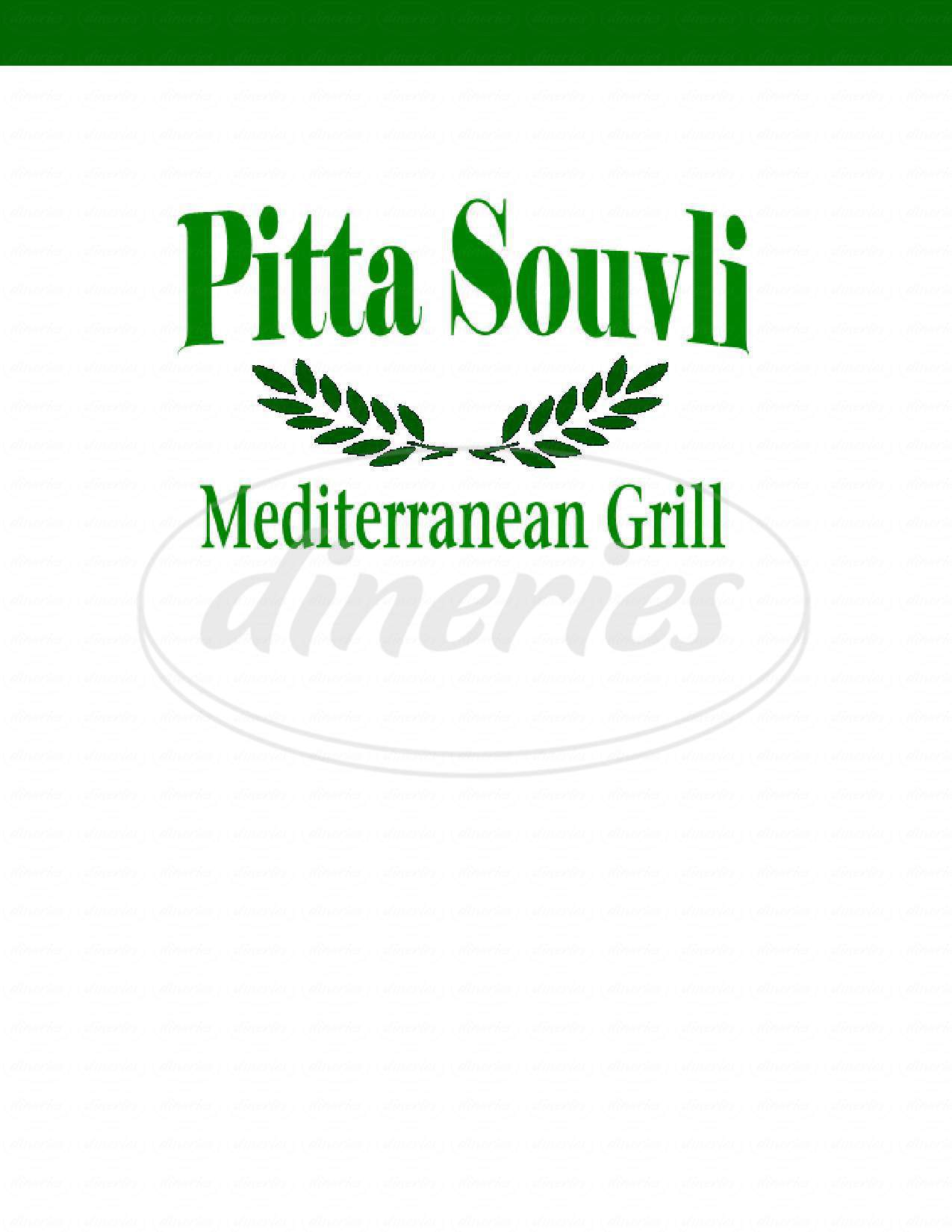 menu for Pitta Souvli