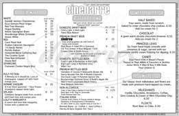 menu for Cinebarre