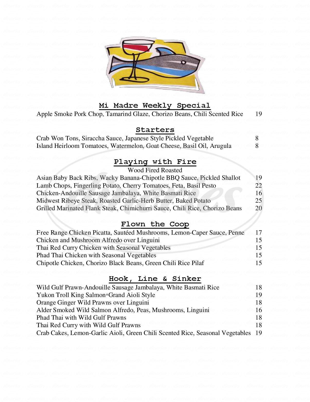 menu for Express Cuisine