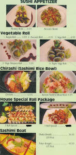 menu for Flying Fish Sushi Bar & Grill
