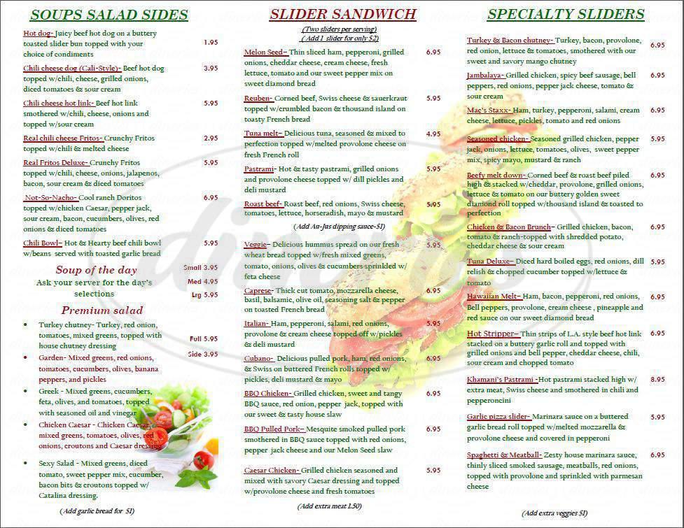 menu for The Melon Seed Deli & Frozen Yogurt