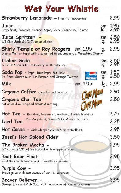 menu for Broken Yolk