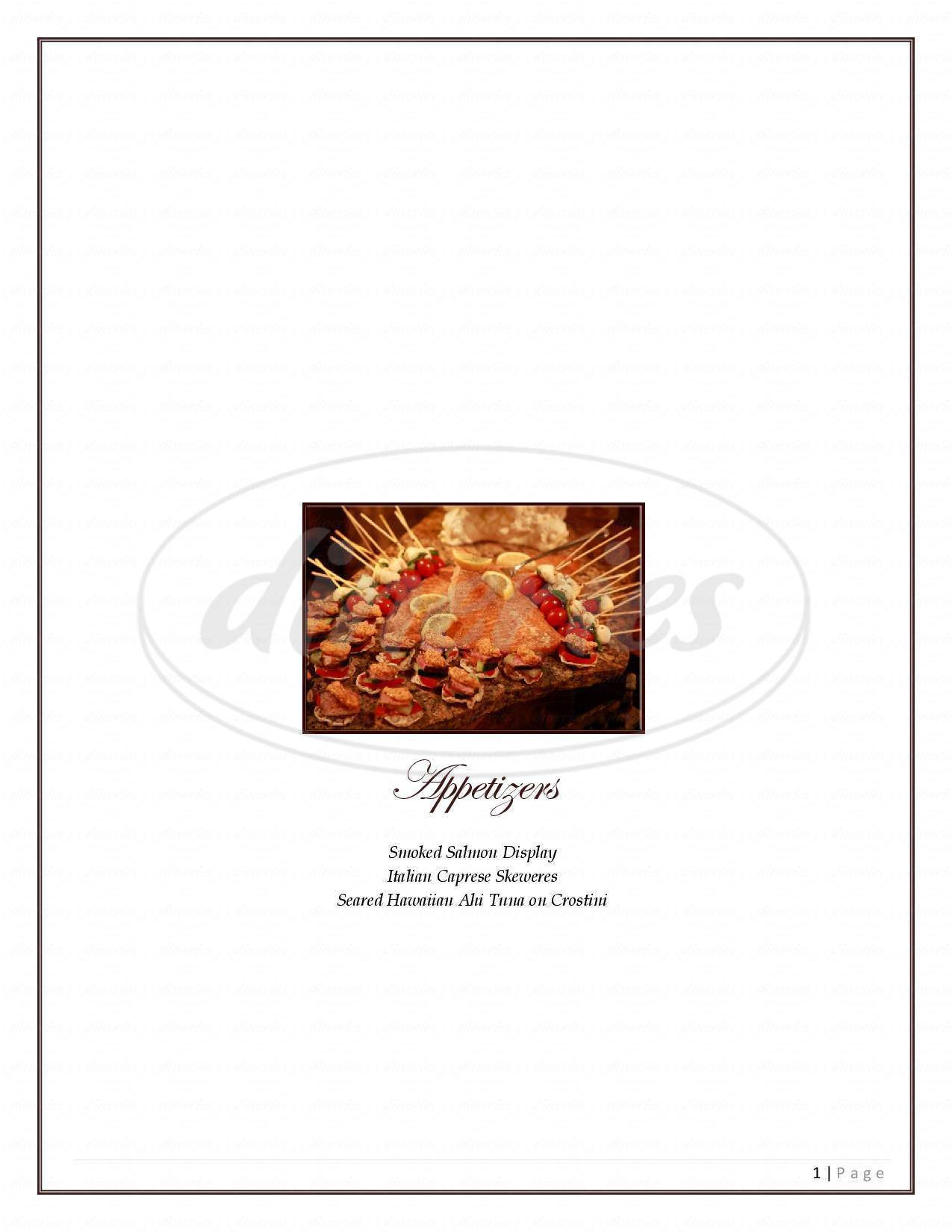 menu for Connor Events & Catering, Inc.