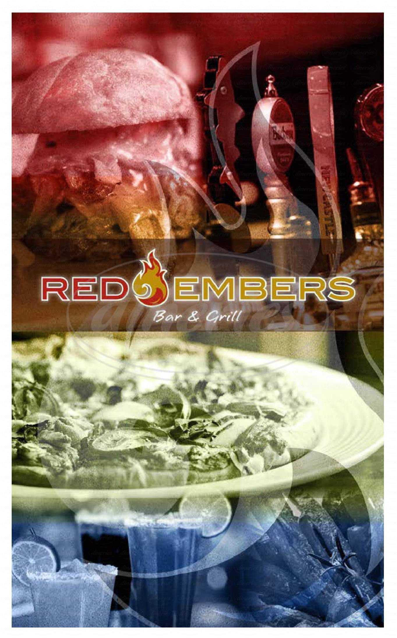 menu for Red Embers Bar & Grill
