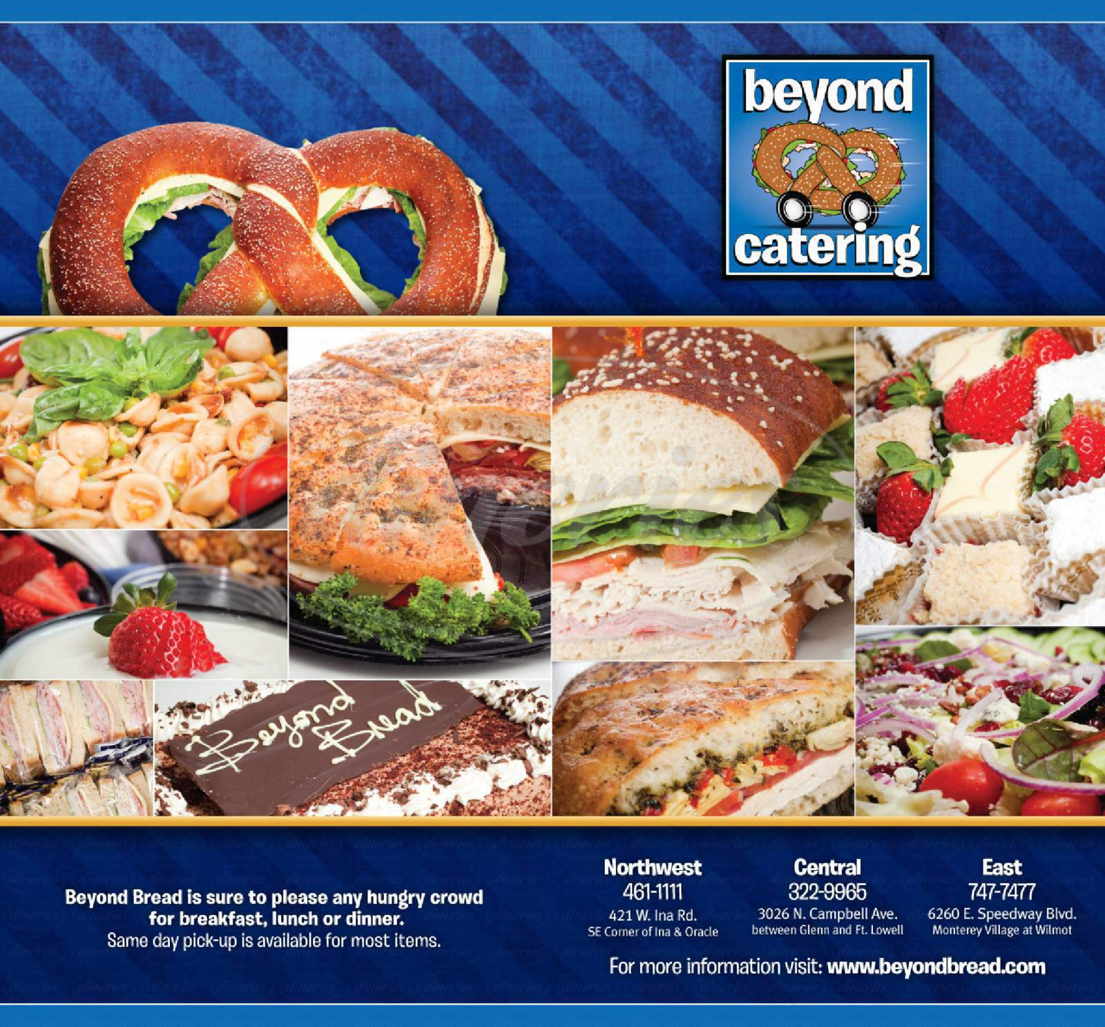menu for Beyond Bread