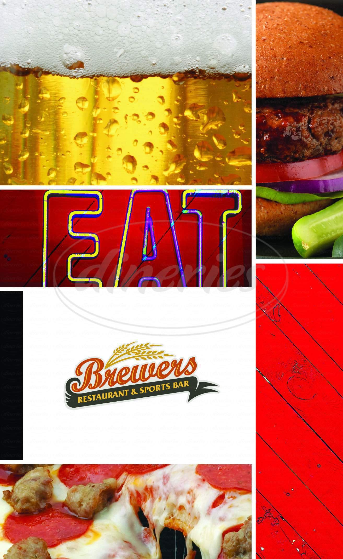 menu for Brewers Restaurant & Sports Bar