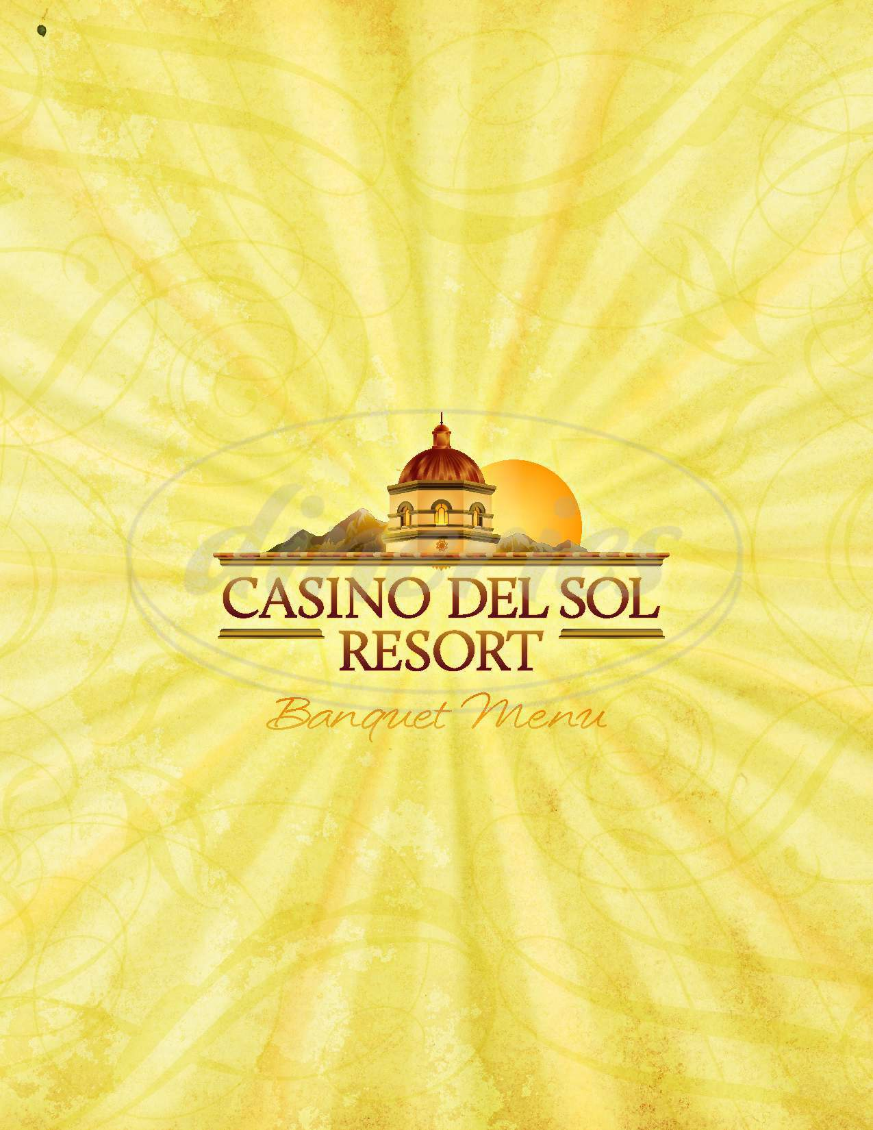 menu for Casino Del Sol