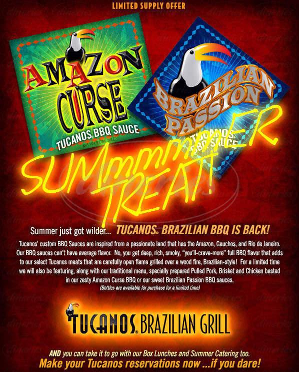 menu for Tucanos Brazilian Grill