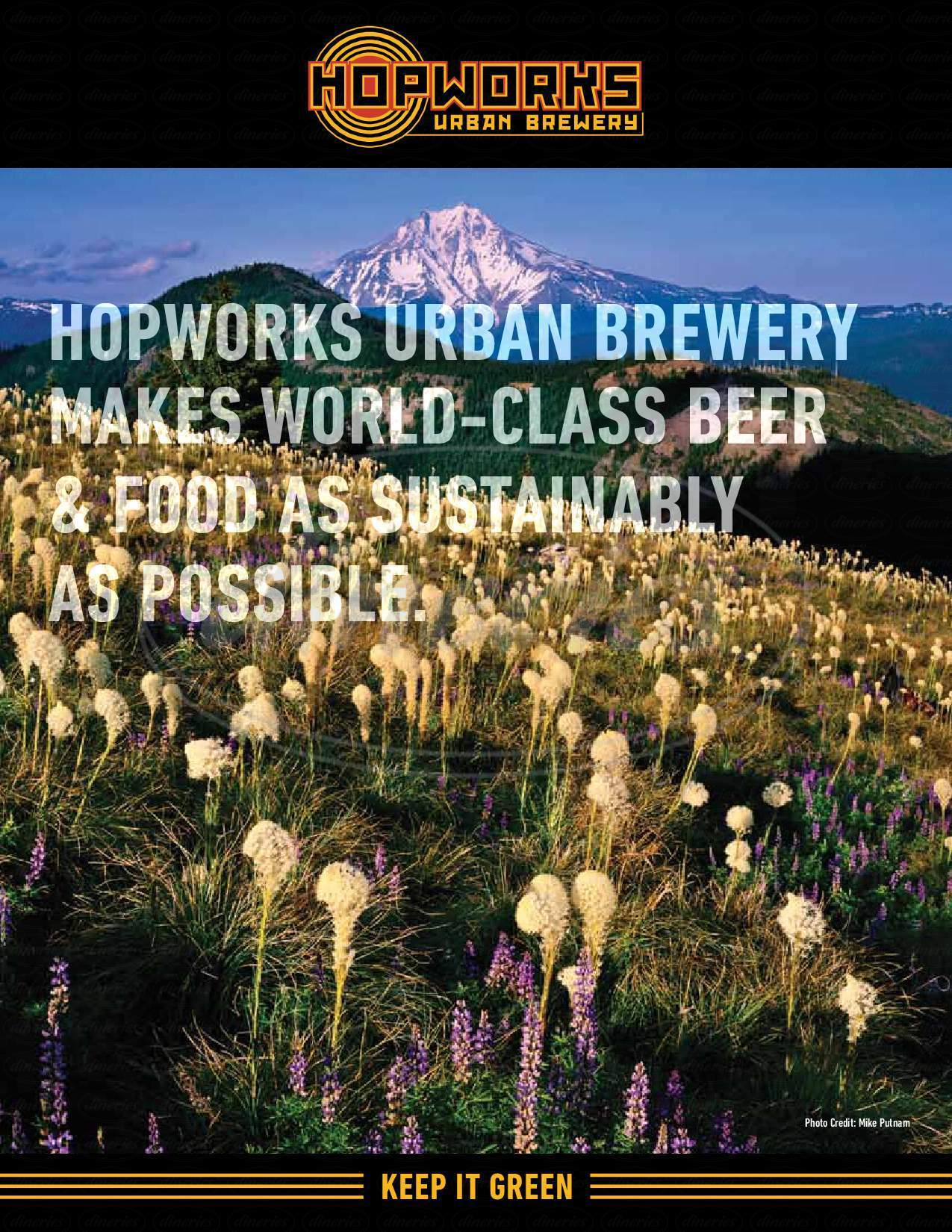 menu for Hopworks Urban Brewery