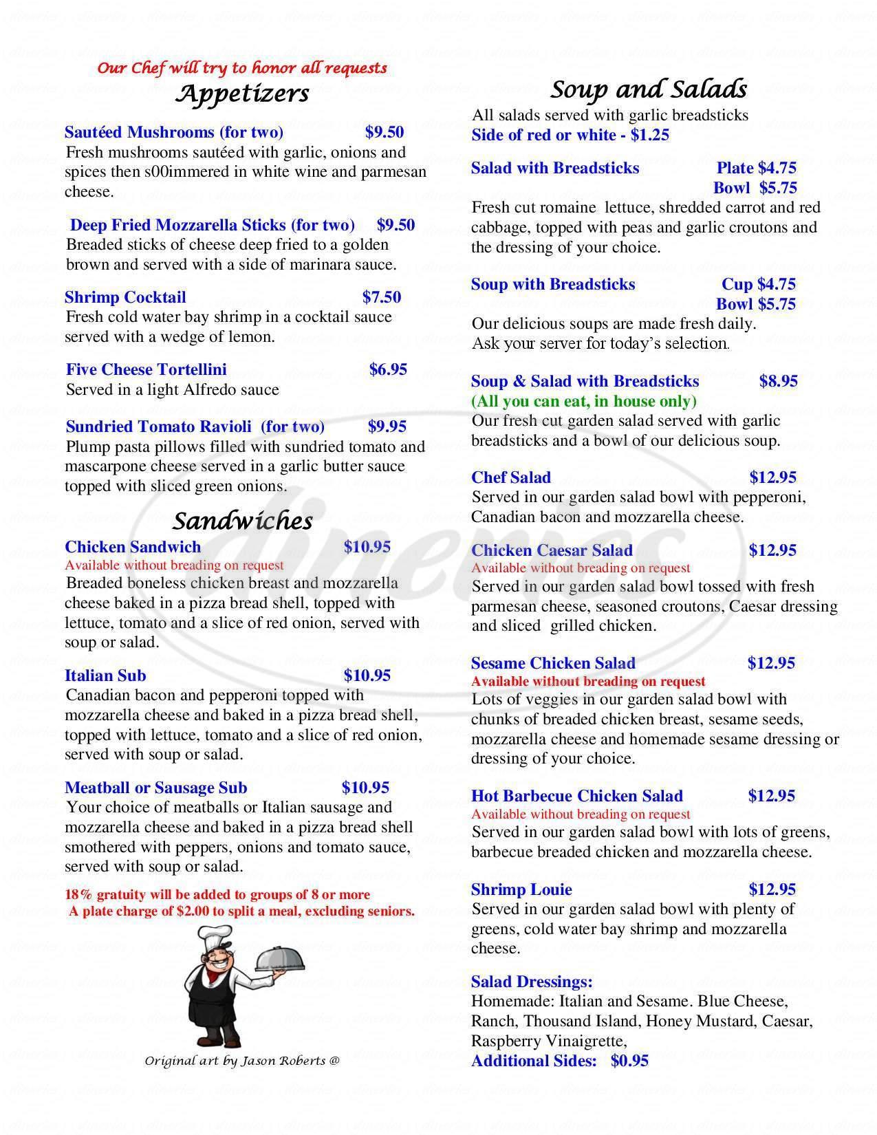 menu for Mama's Fine Italian