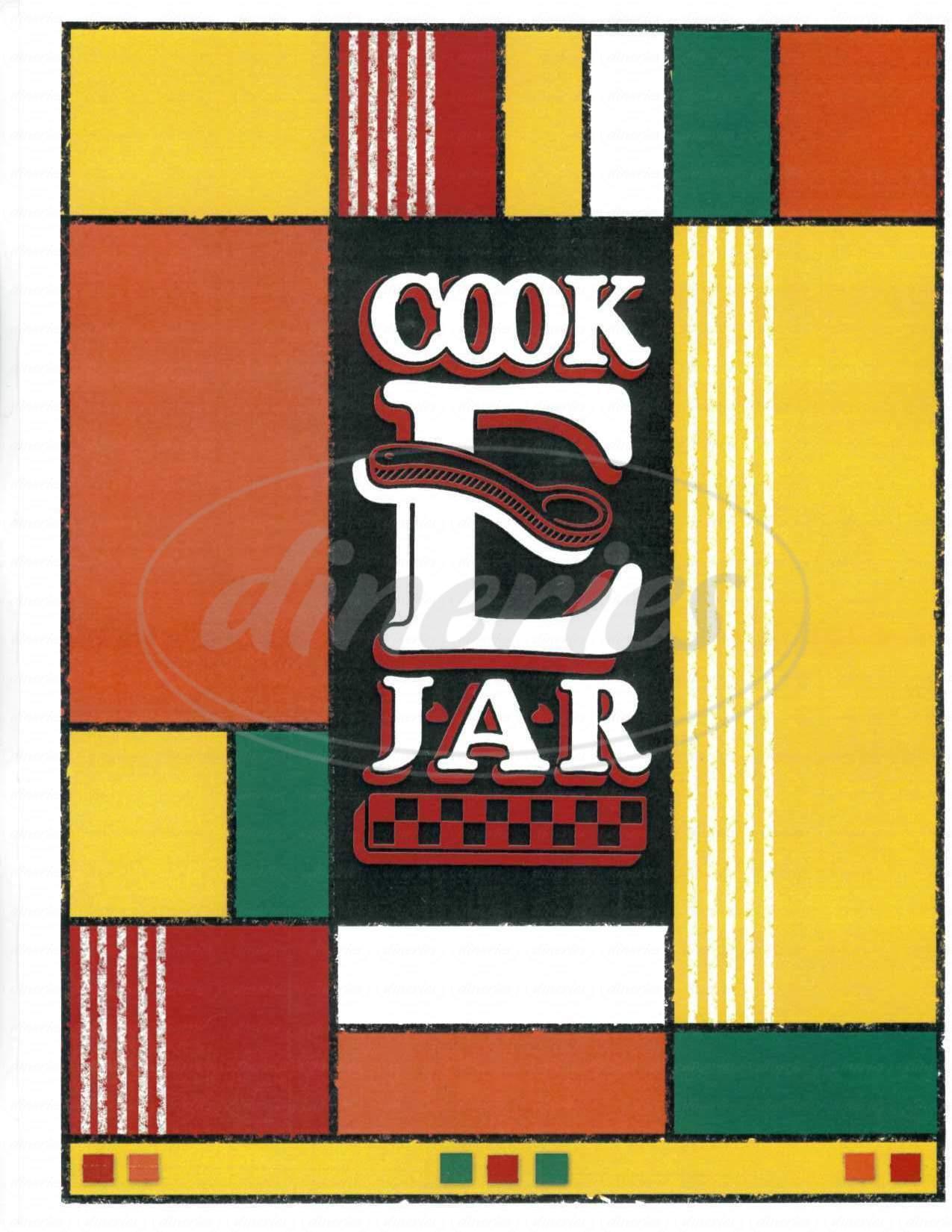menu for Cook E Jar Bakery & Cafe